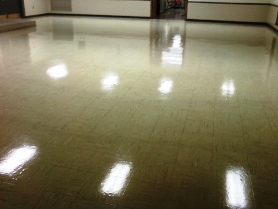 Vinyl Tile Floor After Seal And Wax