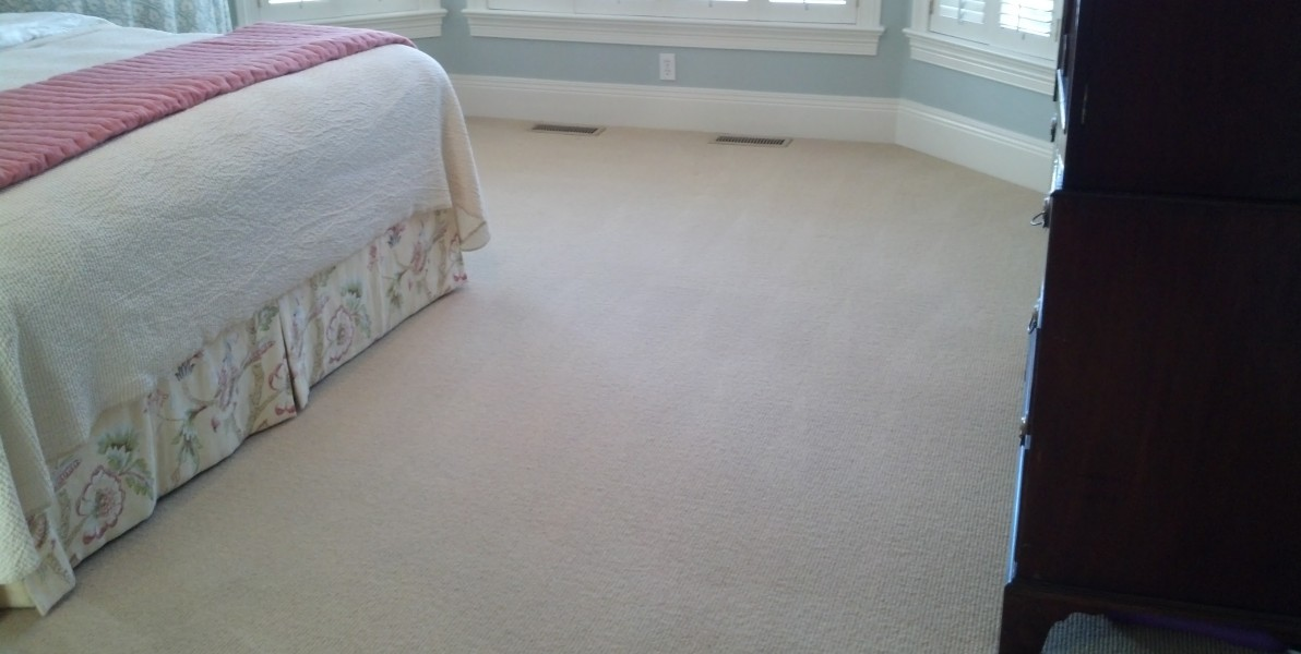 Wool carpeting Sunshine cleaned just this past January