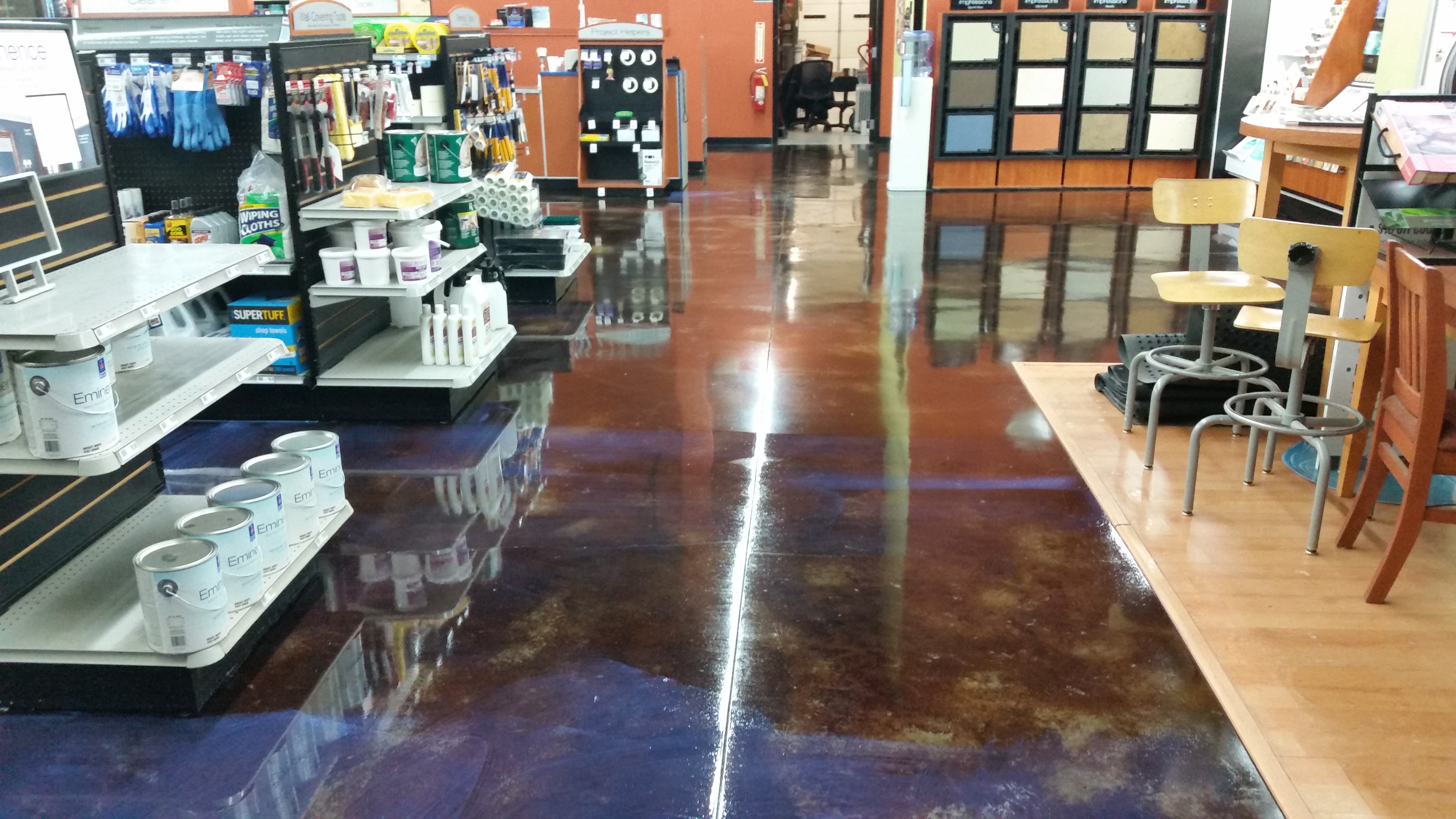 Concrete floor clean and wax sunshine cleaning services for Cleaning interior concrete floors